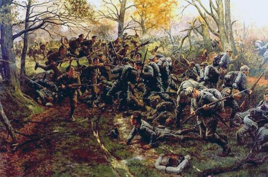 2nd Ox & Bucks defeating Prussian Guard by William Barnes Wollen