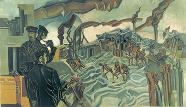 A Battery shelled by Wyndham Lewis