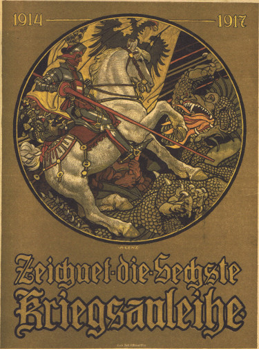 St George and the Dragon: Austrian poster advertising war bonds