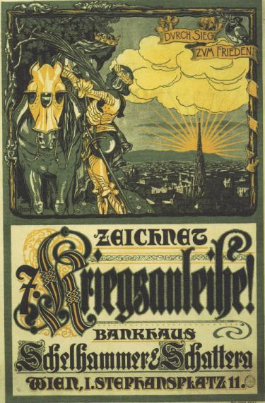 Through war to peace: Austrian poster advertising government war bonds